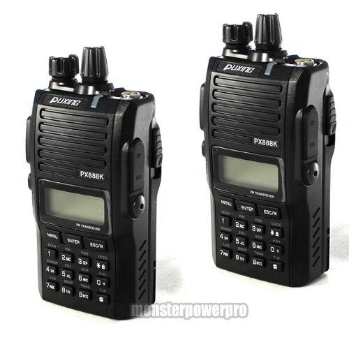 TWO! Professional PUXING PX888K Dual Band Radio UHF400-480MHZ/ VHF 136-174MHZ in Consumer Electronics, Radio Communication, Ham, Amateur Radio | eBay