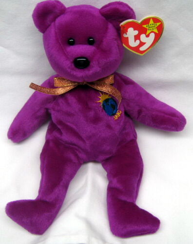 TY Beanie Baby - Millenium Bear New MINT-- Retired in Toys & Hobbies, Beanbag Plush, Ty | eBay
