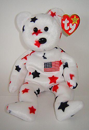 de9752f0683 TY ORIGINAL BEANIE BABY COLLECTION GLORY USA STARS BEAR on PopScreen