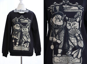 ty y098 gothic punk mr mrs cat adel katze sweatshirt. Black Bedroom Furniture Sets. Home Design Ideas