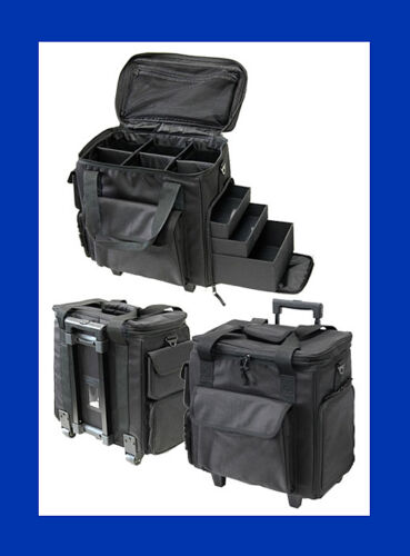 Barber Case : TZ CASE #SB515TB BEAUTY,BARBER, STYLIST, SOFT NYLON BAG W/DRAWERS ON ...