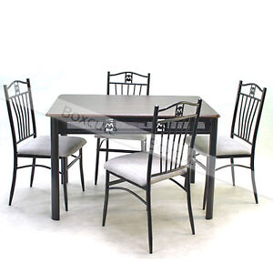 Table And Chairs Dining Sets Dining Room Furniture Kitchen Tables Black Tube