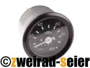 tachometer tacho mit beleuchtung 60mm 100km h simson s50 s51 s53 s70 s83. Black Bedroom Furniture Sets. Home Design Ideas