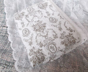 tagesdecke quilt chic antique bett berwurf shabby chic wei rosen decke vintage ebay. Black Bedroom Furniture Sets. Home Design Ideas