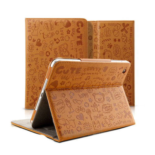 Tan 360 Degree Rotating PU Leather Case Cover Stand for Apple iPad Mini WCD02 in Cell Phones & Accessories, Cell Phone Accessories, Cases, Covers & Skins | eBay