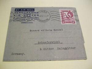 Tanganyika, Lupo-Brief nach Deutschland aus 1957 , Klappbrief mit Inahalt ! - Deutschland - Tanganyika, Lupo-Brief nach Deutschland aus 1957 , Klappbrief mit Inahalt ! - Deutschland