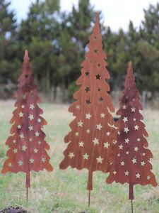 tanne weihnachtsbaum christbaum gartenstecker rost. Black Bedroom Furniture Sets. Home Design Ideas