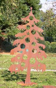 tanne weihnachtsbaum christbaum zum dekorieren rost edelrost metall figur 120cm ebay. Black Bedroom Furniture Sets. Home Design Ideas