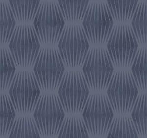 Tapete-Designtapete-Muster-Blau-Grau-Schimmernd-Luxus-Matt-retro