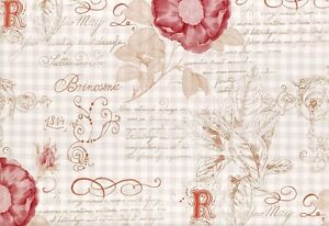 Tapete vintage diary 255088 rasch textil blumen ornament for Ornament tapete rosa