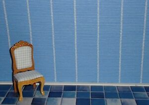 tapete f r s puppenhaus blau mit streifen wallpaper puppenstube blau01 ebay. Black Bedroom Furniture Sets. Home Design Ideas