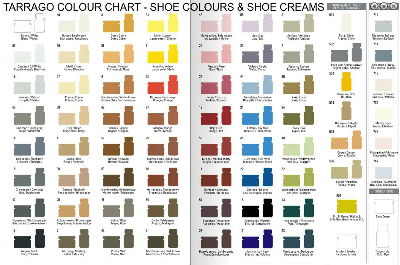 tarrago leather shoe boot polish cream 50 ml jar oz colors 1 59 ebay. Black Bedroom Furniture Sets. Home Design Ideas