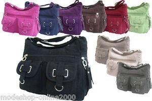Tasche-Damentasche-Handtasche-Stofftasche-Schultertasche-Farbwahl-NEU
