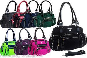 Tasche-Damentasche-Handtasche-Stofftasche-Schultertasche-Tragetasche-Farbwahl