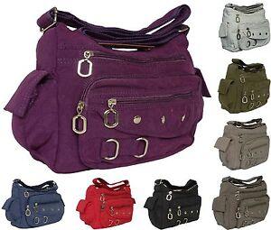 Tasche-Damentasche-Handtasche-Stofftaschen-Schultertasche-Neu