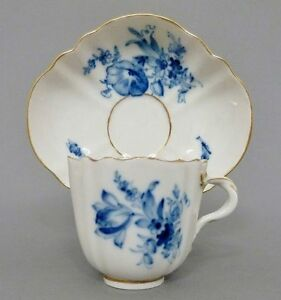 tasse mit unterteller meissen blaue blumen goldrand 1 wahl ebay. Black Bedroom Furniture Sets. Home Design Ideas