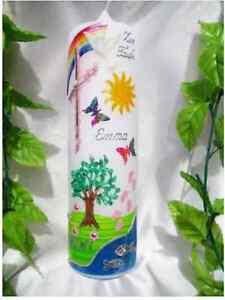 Taufkerze-Kommunionkerze-Lebensbaum-Maedchen-u-Junge-250-70mm
