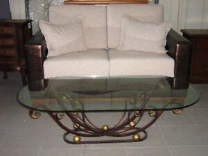 Tavolino salotto in ferro battuto pieno divano classico ebay - Divano ferro battuto ...