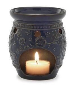 tea light warmer indigo great for scented oils or wax. Black Bedroom Furniture Sets. Home Design Ideas