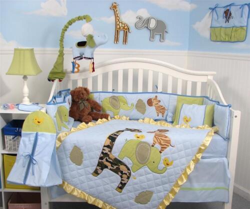 Team Amazing Baby Crib Nursery Bedding 13 pcs Set With Diaper Bag in Baby, Nursery Bedding, Crib Bedding | eBay