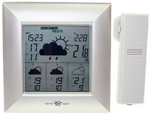 technoline wd 4000 silber funk wetterstation satelliten gest tzt inkl batterien ebay. Black Bedroom Furniture Sets. Home Design Ideas