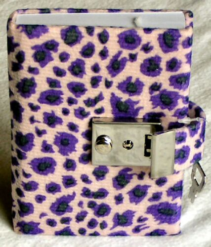 Teen Locking Diary ANIMAL PRINT Personal Journal, Lock and Key - LAVENDER in Books, Accessories, Blank Diaries & Journals | eBay