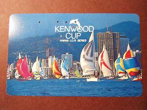 Telefonkarte-Japan-Hawai-Kenwood-Cup-Segelboote