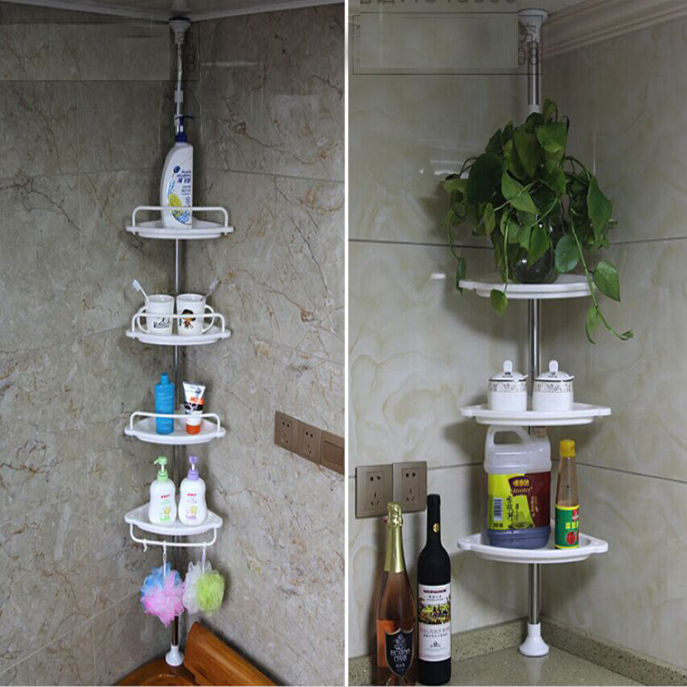 Bathroom Shower Corner Shelves: Corner Shower Caddy Shelf Organizer Bath Storage Bathroom