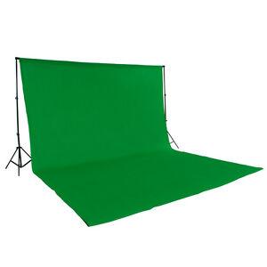 Teleskop-Fotostudio-Komplettset-Hintergrundsystem-inkl-Hintergrund-6x3-m-gruen