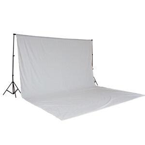 Teleskop-Fotostudio-Komplettset-Hintergrundsystem-inkl-Hintergrund-6x3-m-weiss