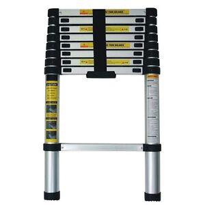 teleskopleiter anlegeleiter leiter stehleiter 260cm 2 6m ausziehbare ausziehbar ebay. Black Bedroom Furniture Sets. Home Design Ideas