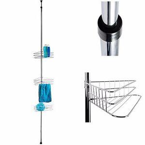 teleskopregal emilie bis 280cm eckregal regal dusche badregal duschregal bad. Black Bedroom Furniture Sets. Home Design Ideas