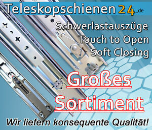 teleskopschiene schwerlastausz ge 1000mm traglast 105kg ebay. Black Bedroom Furniture Sets. Home Design Ideas