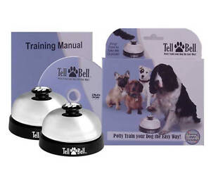 Toilet Training Puppies on Tell Bell Puppy   Dog Potty Training Door Bell   White   Ebay