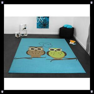 teppich klein oder gro gr enwahl eulen owl kinder blau. Black Bedroom Furniture Sets. Home Design Ideas