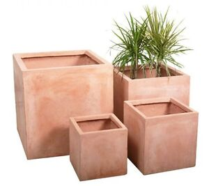 Terracotta Fibrecotta Outdoor Garden Planter Flower Plant