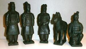 terrakotta armee 5 figuren krieger pferd china 15 cm deko. Black Bedroom Furniture Sets. Home Design Ideas
