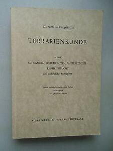 Terrarienkunde-4-Teil-Schlangen-Schildkroeten-Panzerechsen-Reptilienzucht-1959