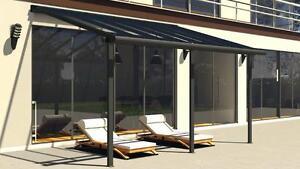 terrassendach terrassen berdachung dachterrasse berdachung terrassend cher alu ebay. Black Bedroom Furniture Sets. Home Design Ideas