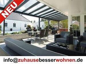 terrassen berdachung carport berdachung aluminium terrassendach vsg glas 7x4m ebay. Black Bedroom Furniture Sets. Home Design Ideas