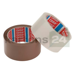 Tesa-Klebeband-tesapack-64014-leise-abrollend-Packband-transparent-oder-braun