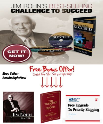 The Challenge to Succeed by JIM ROHN 4 CD audio book NEW- FREE BONUS CD & Book in Everything Else, Personal Development, Leadership, Self-Confidence | eBay