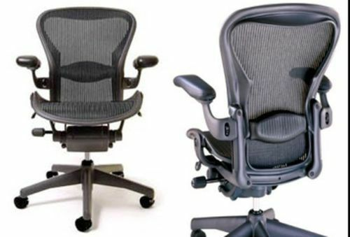 The HERMAN MILLER AERON DLX Office Chair CARBON BLACK B in Business & Industrial, Office, Office Furniture | eBay
