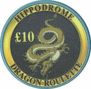 Hippodrome Casino Uncirculated £10 LE Dragon Roulette Chip, London UK