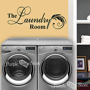 the laundry room vinyl wall art home decor quote decal