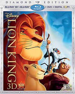 The Lion King 3D (Blu-ray/DVD, 2011, 4-Disc Set, Diamond Edition; Includes... in DVDs & Movies, DVDs & Blu-ray Discs | eBay