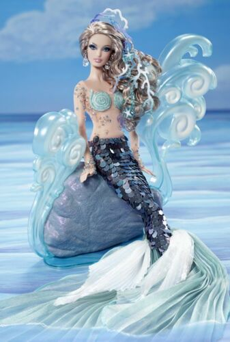The Mermaid Barbie Doll - Gold Collector Label 2012 by Linda Kyaw Fantasy Doll in Dolls & Bears, Dolls, Barbie Contemporary (1973-Now) | eBay