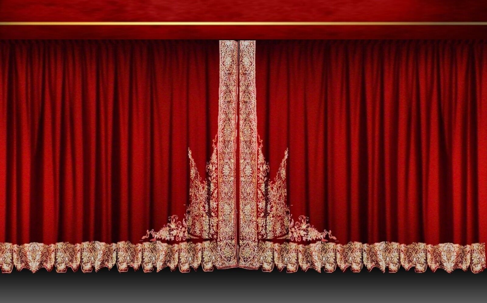 U Shaped Shower Curtain Rod Stage Curtains for Dance