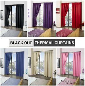 thermal vorh nge verdunkelung einfarbige v rh nge in 6. Black Bedroom Furniture Sets. Home Design Ideas