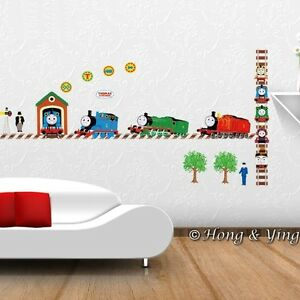 thomas the tank engine kids nursery removable wall sticker. Black Bedroom Furniture Sets. Home Design Ideas